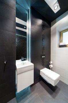 Matt fekete csempe fürdőszobába