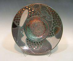 Raku Pottery Bowl.  Stunning!!