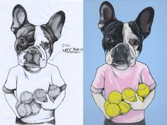 French Bulldog , frenchie , dog portrait , dog painting , the dog painter