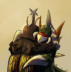 Gigan Hugs Megalon by Drbuffalo.deviantart.com on @deviantART
