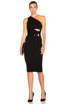 Image 1 of Cushnie et Ochs Asymmetrical Maxi Dress in Black