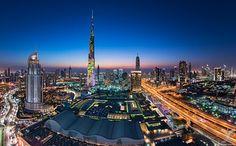 Downtown Dubai by Daniel Cheong - Photo 150184677 - City Landscape, City Architecture, Burj Khalifa, New Construction, Cn Tower, San Francisco Skyline, Paris Skyline, Skyscraper, Dubai