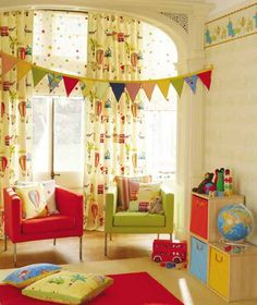 nursery curtain fabric uk - Google Search
