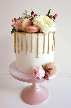 drip cake original i Pretty Cakes, Cute Cakes, Beautiful Cakes, Amazing Cakes, Drip Cakes, Food Cakes, Fondant Cakes, Cupcake Cakes, Cakes Originales