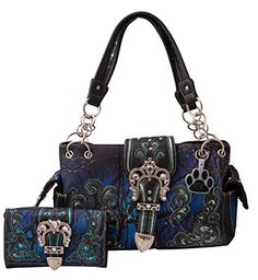 online shopping for HW Collection Western Camo Camouflage Rhinestone Buckle Concealed Carry Handbag Crossbody Wallet from top store. See new offer for HW Collection Western Camo Camouflage Rhinestone Buckle Concealed Carry Handbag Crossbody Wallet Black Handbags, Purses And Handbags, Leather Purses, Leather Wallet, Concealed Carry Handbags, Medium Tote, Crossbody Wallet, Day Bag, Camouflage