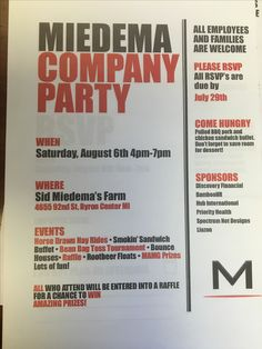 Yahoo! The company party invites came out so amazing! August 2nd
