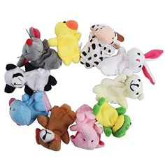 niceEshop(TM) Cute Velvet Animal Style Story Time Educational Finger Puppets Set with niceEshop Cable Tie ** See this great image @
