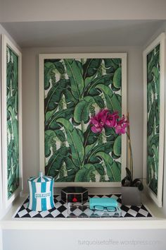 DIY Framed Wallpaper Panels DIY Framed Wallpaper Panels Brazilliance<br> DIY Framed Wallpaper Panels…I am obsessed (OBSESSED!) with Dorothy Draper's Brazilliance wallpaper. It's so vibrant and colourful and tropical; such a bold statement and so iconic… Framed Wallpaper, Wood Wallpaper, Wallpaper Panels, Diy Wand, Cheap Wall Art, Diy Wall Art, Wall Paper Diy, Diy Tapete, Cheap Hardwood Floors