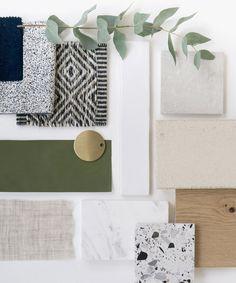 Mood Board Interior, Interior Design Boards, Interior Design Studio, Moodboard Interior Design, Küchen Design, House Design, Material Board, Design Palette, Kitchen Colors