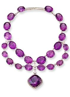 Amethyst and diamond necklace <3