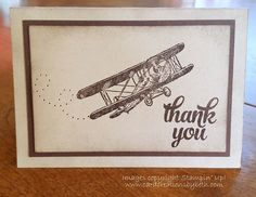 Card Creations by Beth: Sky Is the Limit - Masculine Note Card