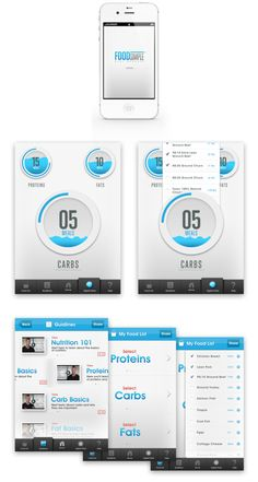 FoodSimple Application by Handsome , via Behance