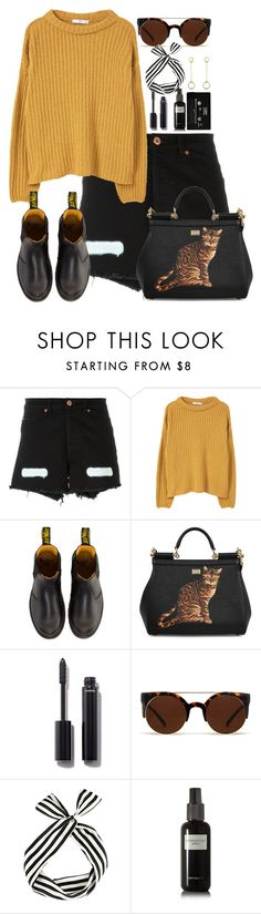 """Untitled #1045"" by rowan-asha ❤ liked on Polyvore featuring Off-White, MANGO, Dr. Martens, Dolce&Gabbana, Chanel, Quay, David Mallett and Satomi Kawakita"