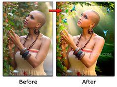 Photoshop Beautification - Lighting, Birds, Color