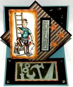 TOOL MAN (U get photo # 2 only) L@@k examples ART IMPESSIONS RUBBER STAMPS | Crafts, Stamping & Embossing, Stamps | eBay!