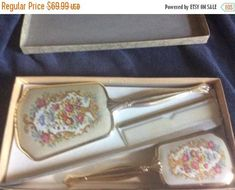 HolidaySale Gold tone and multi colored  floral design 3 Piece