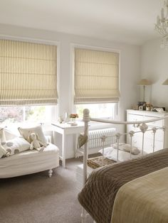 Stunning roman blinds can help make a relaxing atmosphere in your bedroom. #romanblinds #yellowblinds #home #interiordesign #bedroomblinds Please visit us at www.barnesblinds.co.uk