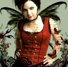 Love her corset top. #amylee #evanescence #corset