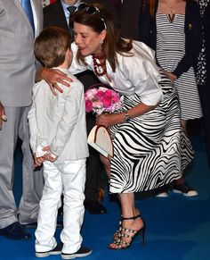 Princess Caroline at the 49th International Floral Competition