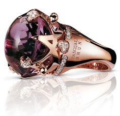 """From the """"Sissi"""" collection Amethyst and Diamonds set in 18k rose Gold by Pasquale Bruni"""