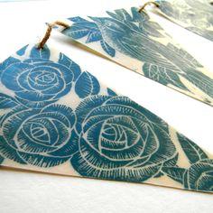 Lino Print on Wax Paper