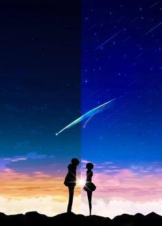 Movie: kimi no na wa//your name Your Name Wallpaper, Scenery Wallpaper, Hd Wallpaper, Film Manga, Manga Anime, Live Wallpapers, Animes Wallpapers, Anime Disney, Your Name Anime