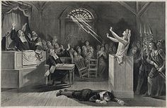 "Joseph E. Baker's ""Witch No. is a stunning lithograph illustrating the imagined events that are part of the mythology of the horrific Salem Witch Trials of the late century. To learn more, check out Smithsonian's ""Brief History of the Salem Witch Trials. Yasmine Galenorn, Salem Mass, Maleficarum, Early Modern Period, Carlin, Tarot, Thing 1, National Geographic, American History"