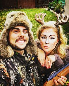 Deer and hunter couple Halloween costumes! | Couple Halloween ...