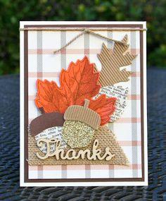 Krystal's Cards: Stampin' Up! Vintage Leaves - Chocolate Tangerine