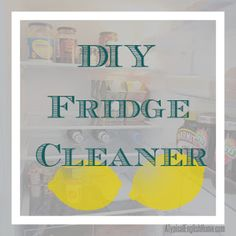 A Typical English Home: DIY Refrigerator Cleaner