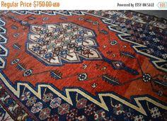 40% OFF SALE Antique Bakhtiari Persian Rug by TEKKARUG on Etsy