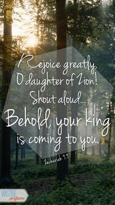 Zechariah 9:9...More at http://beliefpics.christianpost.com/