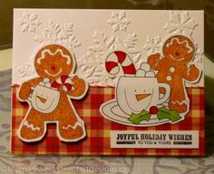 gingerbread man Christmas card   For details, see my blog at www.sweetartdesigns.ca