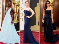 2014 Oscars Blue Dresses