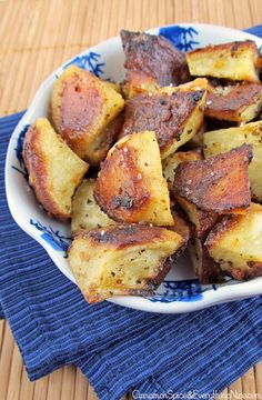 Potatoes tossed in a mustard dressing and roasted to perfection!
