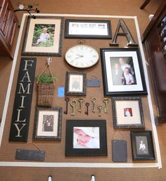 How To Hang a Picture Gallery Wall...start with the floor #picturegallerywall #gallerywall