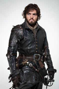 Tom Burke as Athos in The Musketeers