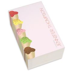 Sweet Cupcakes Pink Chunky Notepads