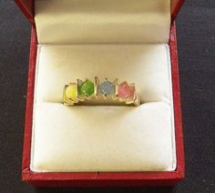 $20.00 Silver Pastel Ring (9915-1447MS) jewelry, fashion, collectibles #Unbranded #Band