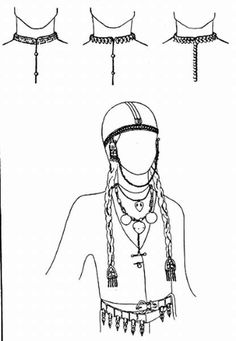 I like the belt and head covering. Maybe good for underneath the four-panel hat. (Bottom), Hungarian female wear from Bolsije Tigani (Russia) (reconstructed by E. Historical Costume, Historical Clothing, Viking Hair, Archaeological Finds, Panel Hat, In A Little While, Asatru, Family Roots, Ancient Symbols