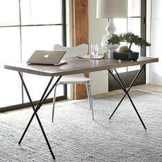 Metal Truss Work Table, West Elm $399.00  like the simplicity of this desk