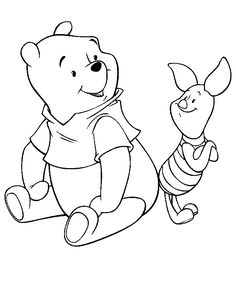 Disney Coloring Pages - Pooh & Piglet