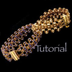 Seed Bead and SuperDuo Bracelet Tutorial Twice As by JewelryTales, $6.00