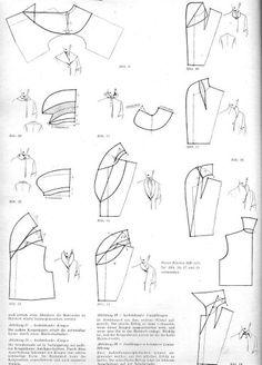 construction de différents cols à plat, Collars