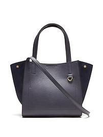 Pebbled Italian Leather Mini Tote