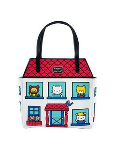 Loungefly Licensed Sanrio Hello Kitty Family House Tote Bag Purse   brand-loungefly  color White fc6d33b033