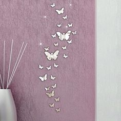 $2.98  - XUANOU 30PC Butterfly 3D Stickers Plastic Mirror Wall Stickers DIY Combination Home Decoration ** To view further for this item, visit the image link. (This is an affiliate link) #WallStickersMurals