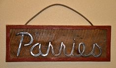 Custom Barn Wood Signs with Horseshoe by RanchStudioArtworks