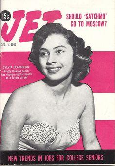 DEC 1 1955 JET MAGAZINE VOL.9 #4 (Sylvia Blackburn) Media Magazine, Jet Magazine, Black Magazine, Cover Pages, Album Covers, 50s Makeup, Newspaper Cover, Essence Magazine, Black Image