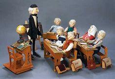 Steiff professor doll and school room